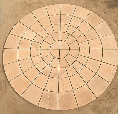 11.5ft YORK STONE ROTUNDA CIRCLE PATIO PAVING SLABS, FREE DEL  NOTE EXCEPTIONS