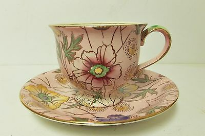 Vintage Royal Minton Grimwades England Pin Abstract Floral Teacup & Saucer