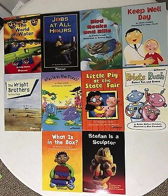 Lot of 10 Harcourt Fluent Reader level books Grade 1