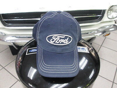 Official Licensed Genuine Ford Blue Red 3D Logo Faded Mens Baseball Cap Hat