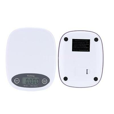 7kg/1g Electronic Balance Digital Pocket Kitchen Food Weight Scale White E4K8