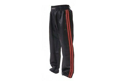 T-Sport Satin Kickboxing Pants Kick Boxing Trousers Freestyle Black and Red