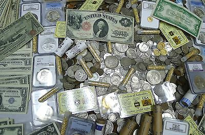 Estate Coins, Lot Of 5 Items!   Currency,wwii,silver,indian!!