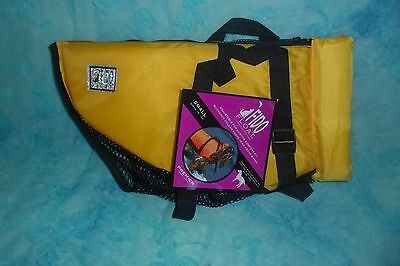 "Premier Fido Float Dog Life Vest, Small, Yellow fits 18"" to 22"" around"