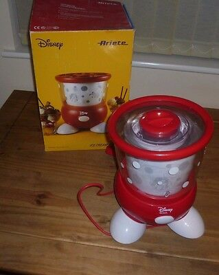 DISNEY ARIETE Electric Ice Cream Maker Yoghurt Sorbet Mickey Mouse Boxed Inst