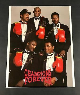 Champions Forever Muhammad Ali SIGNED Poster w/ Frazier, Holmes, Foreman, Norton
