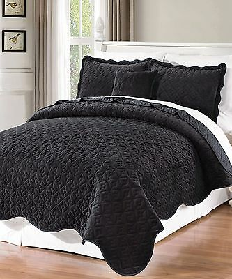 Various Size and Color Patterns 681984 Reversible Pick Stitch 3-Piece Coverlet