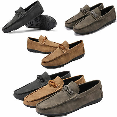 Fashion Men's Minimalism Driving Loafers Slip-on Soft Shoes Men's Casual Shoes