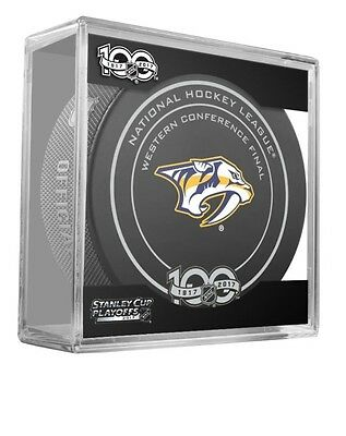 Nashville Predators Puck 2017 Western Conference Final Game Stanley Cup Champs