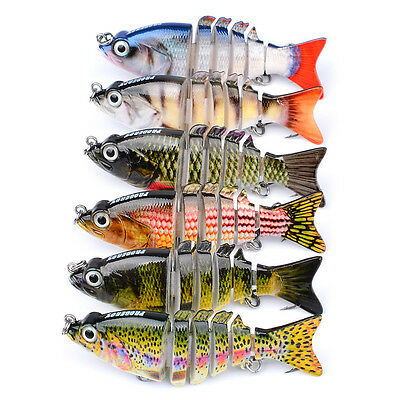 6pcs/Lot Swimbaits Fishing Lures Jointed Swimbait Bait Bass Tackle 8.5cm 10.7g