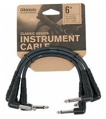 "Planet Waves Pw-Cgtp-305 3-Pack 6"" Classic Series Patch Cables - Free Us Ship"