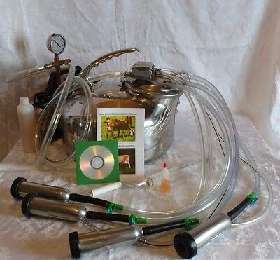 Complete Portable Surge Milker Milking Machine~NEW Vacuum Pump~Instructions~DVD