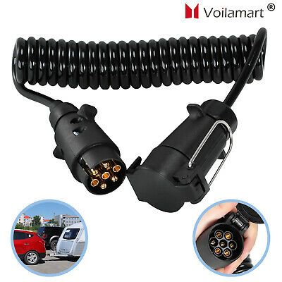 3M 7 Pin Trailer Truck Light Board Extension Cable Lead Male to Female Wire