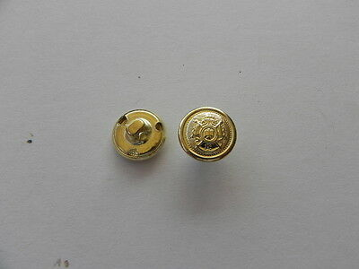 New Pack 10 Gold Buttons