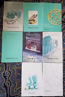 Lot of 8 Vintage Tiffany& Co. Selections Catalogs *Hard to find!* (1995-2008)