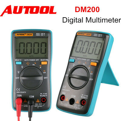 DM200 Auto Range Digital Multimeter Tester 4000 Counts AC/DC Ammeter Voltmeter