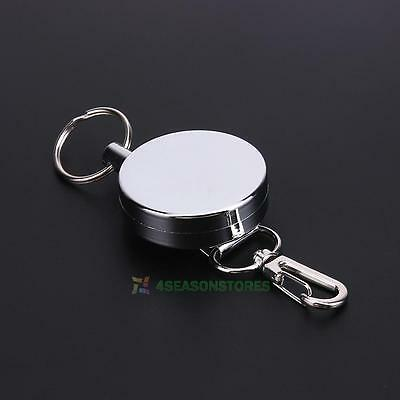 Universal Metal Retractable Key Chain Stretching rope Anti-lost Burglar key ring
