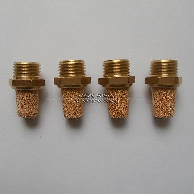 "4PCS Pneumatic Muffler Filter Sintered Bronze 1/8"" NPT Brass Silencer M44"