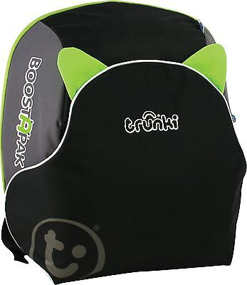 Trunki Boostapak Car Booster Seat - Unique fold-out - H36, W18, D40cm - Green