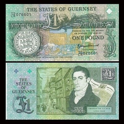 The States of Guernsey 1 Pound, ND 2013, -NEW, Commemorative, UNC Banknote