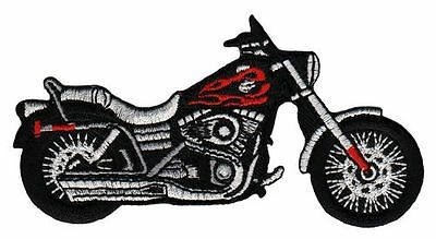 am80 Motorrad Rot Chopper Big Bike Aufnäher Bügelbild Applikation Patch Biker