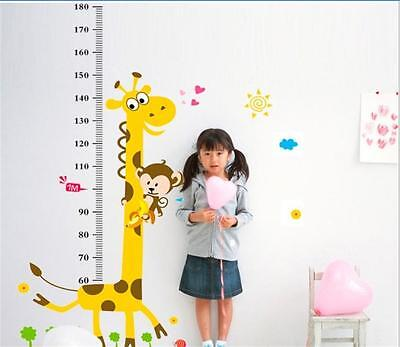 Giraffe Removable Height Chart Measure Wall Sticker Decal for Kid Child Room ky