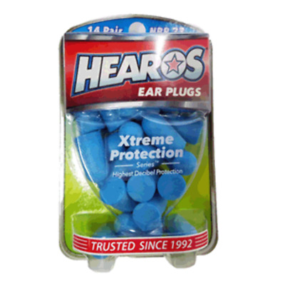 New Hearos Original Formulation Xtreme Protection Ear Plugs (NRR 33) (14 pairs)