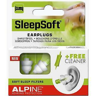 New Alpine SleepSoft Reusable Sleeping Earplugs