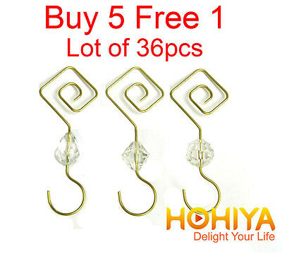 New 36pcs Gold Swirl Decorative Christmas Tree Ornament Hooks Hangers