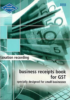 Zions Systems Business Receipts Book for GST  ***BRB***