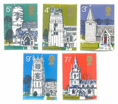 Great britain Churches-Architecture mnh - 1972