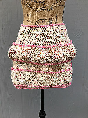 Crochet Egg Gathering Apron, Egg Collecting Apron, Crochet Apron, Adult- Sized