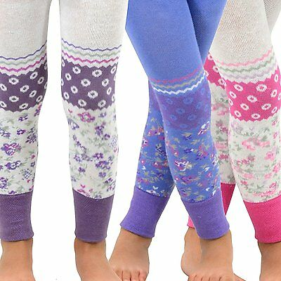 TeeHee Kids Girls Fashion  Footless Tights 3 Pair Pack (Trellis Floral)