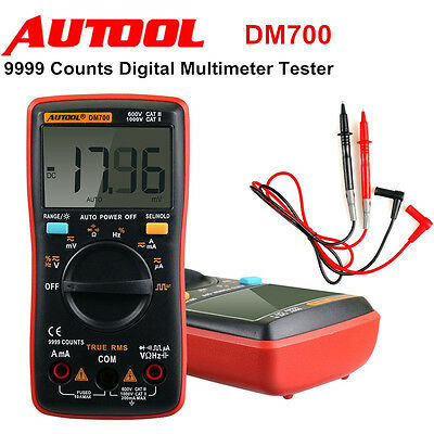 New Autool DM700 9999 Counts Pocket Mini Auto Ranging Digital Multimeter Tester