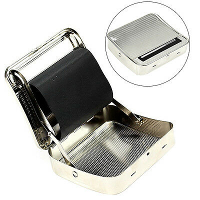 Automatic Tobacco Smoking Rolling Machine New 70mm Metal Cigarette Roller Box