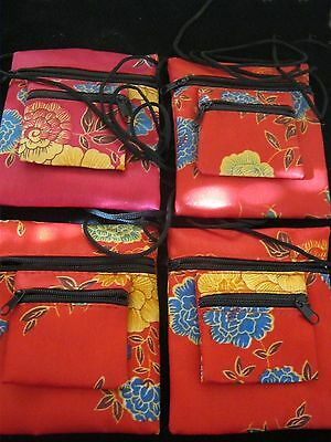 4 x Cute little Red and Pink Bags with Arm Strap Great for Little Girls ALL NEW