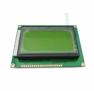 2Pcs St7920 5V 12864 128X64 Dots Graphic Lcd Yellow Green Backlight Ic New G