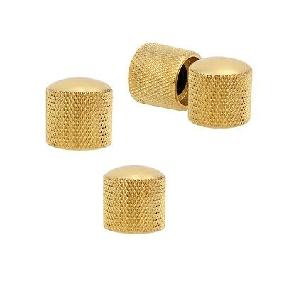 4pcs Gold Plated Metal Dome Volume Tone Control Knob for Electric Guitar