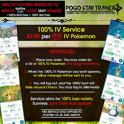 Pokemon Go 100 IV Catching Service - 100% Safe Service Updated May 11th