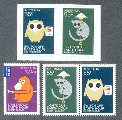 Australia-Earth Hour-Conservation sets mnh gummed & self-adhesive-Science-2009