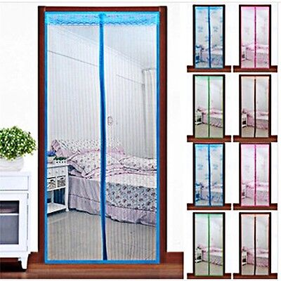 Mesh Door Magic Curtain Net Magnetic Snap Fly Bug Insect Mosquito Screen XP
