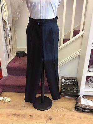 Black Herringbone Morning Dress Trousers To Match Frock/tails/edward Jackets