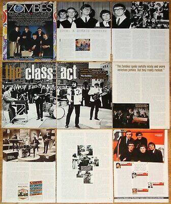 THE ZOMBIES clippings 1960s pop band photos magazine articles