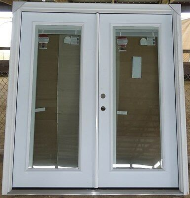 """Jeld-Wen Pre Hung Exterior French Doors 72"""" x 80"""" With Blinds * NO FREE SHIPPING"""
