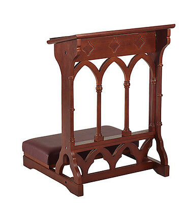 Gothic Style Church Prayer Kneeler~Solid Maple Hardwood/walnut Finish~Prie Dieu~