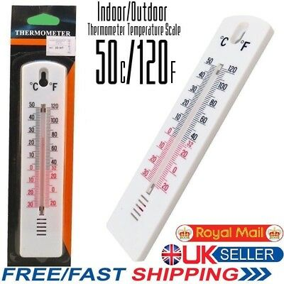 WALL THERMOMETER Fahrenheit & Celsius Indoor Outdoor Lab Garden/Home Office Room