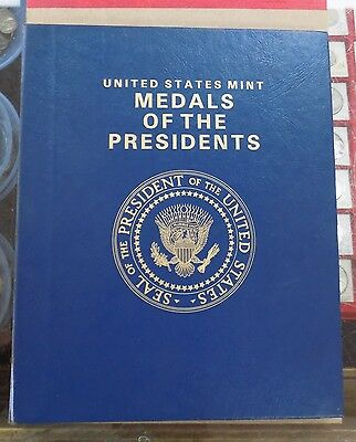 U.s. Mint Presidential Bronze Medal Album Set  Washington To Reagan