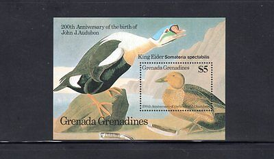Grenada Grenadines 1986 Centenary Birth of John Audubon m/sheet SG MS740 MUH