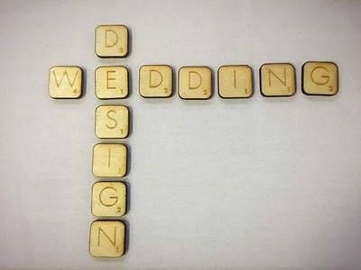 Laser Cut Plywood Scrabble Letters for crafts scrapbooking decoration