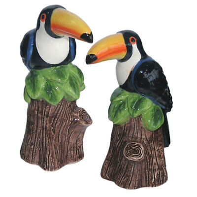 Collectable Novelty Salt and Pepper Shakers Set TOUCAN BIRDS Set FREEPOST NEW